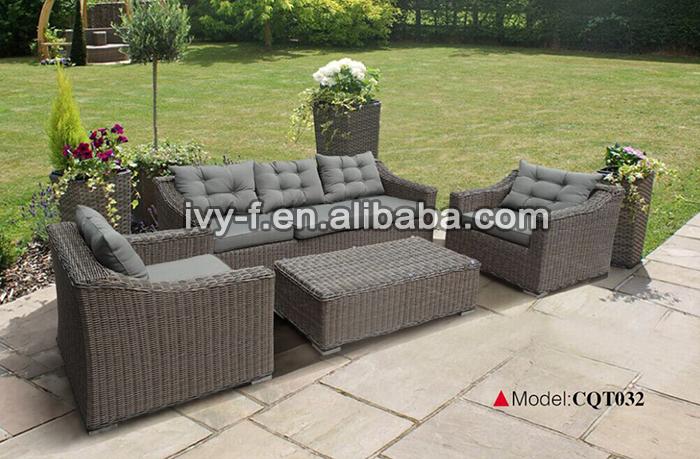resort patio rattan modern l shape sofaterrace sofa setoutdoor synthetic wicker - Rattan Garden Furniture L Shape