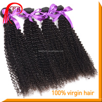 Cheap 100 percent natural raw virgin kinky curl brazilian remy hair extensions