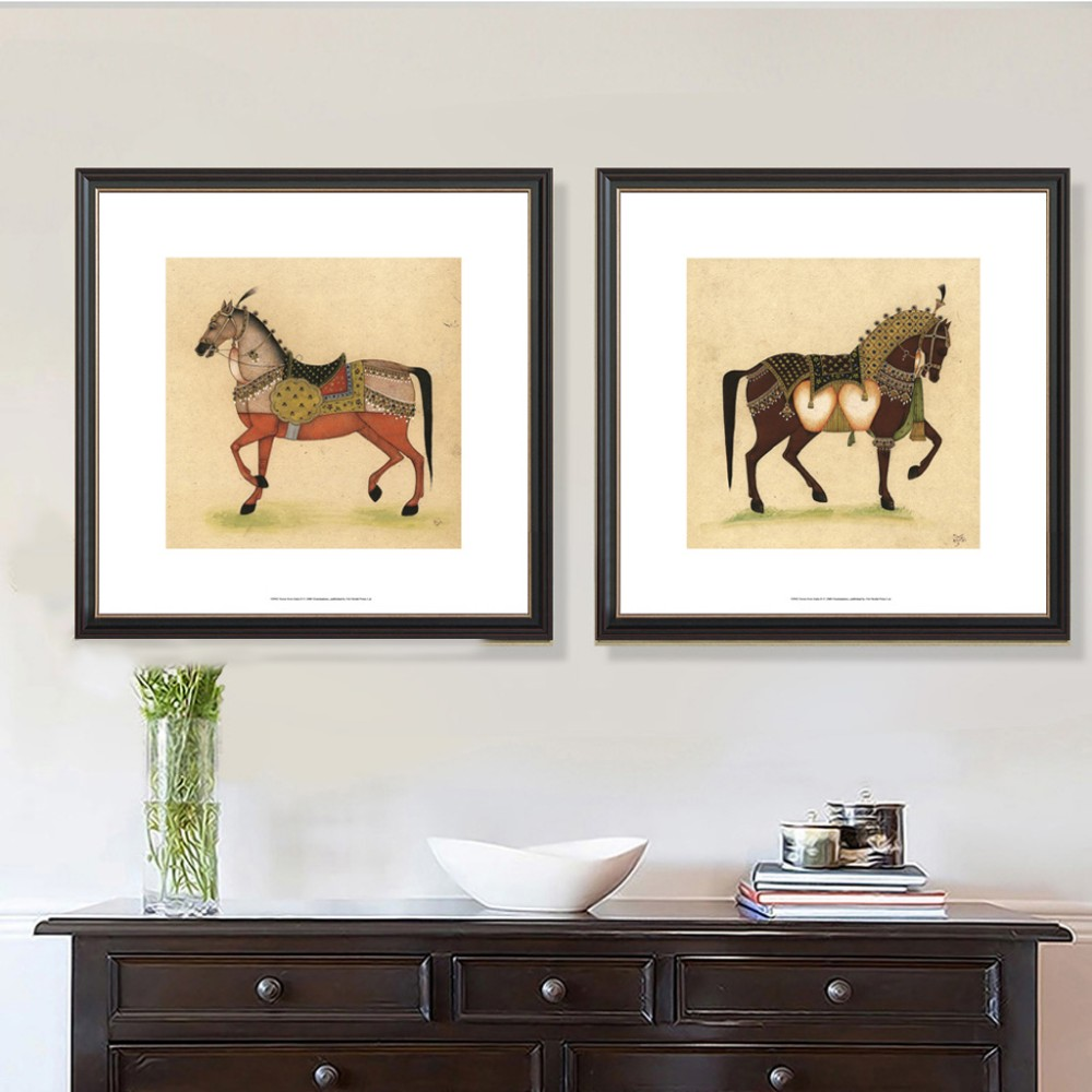 Modern Wall Art abstract horse with Acrylic glass frame for living room art hotel decoration