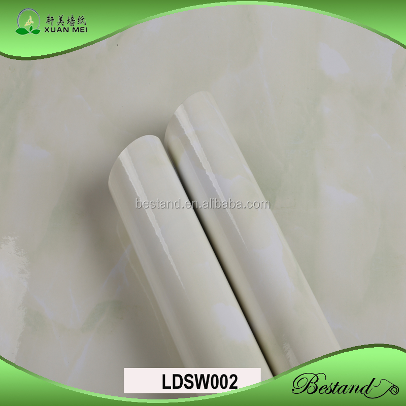 Laminated Self Adhesive Marble Wallpapers High Gloss PVC Membrane Foil