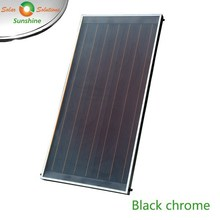 Flat Plate Solar Thermal Collector with Black Chrome Coating