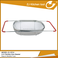 stainless steel kitchen flexible basket for fruit and vegetable ZJ-C014