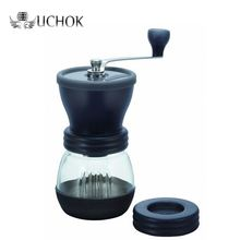 factory price cheapest commercial appliance hand crank manual coffee grinder plastic for sale