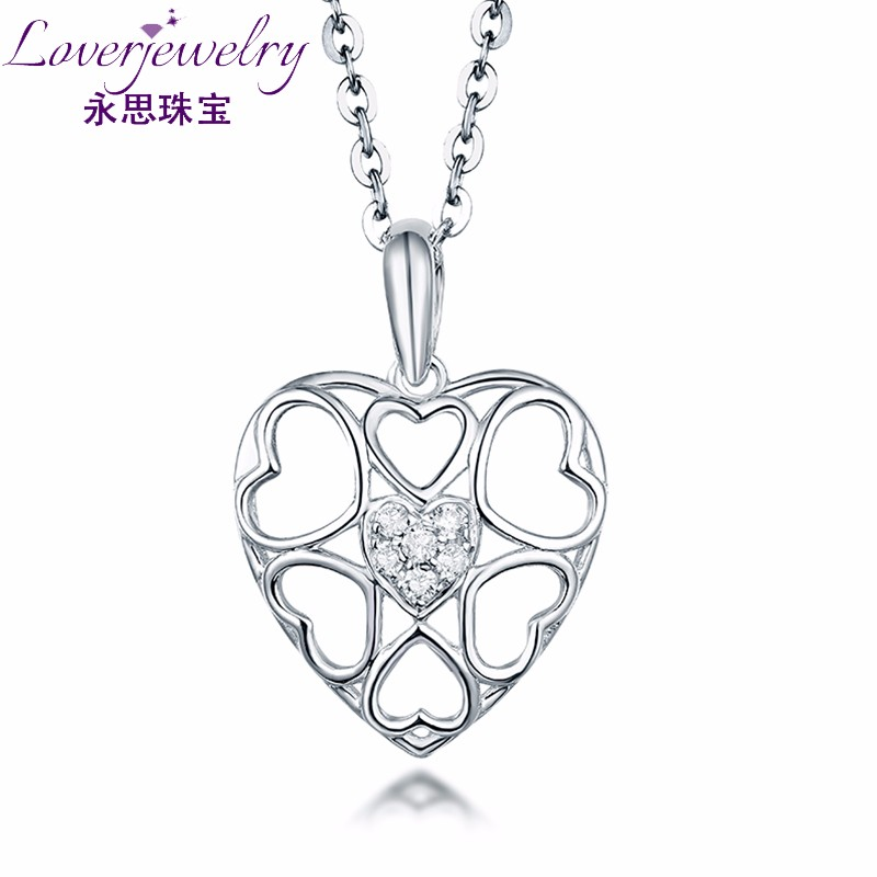 Wholesale Heart-Shaped Pendant Real Gold Jewelry Cheap