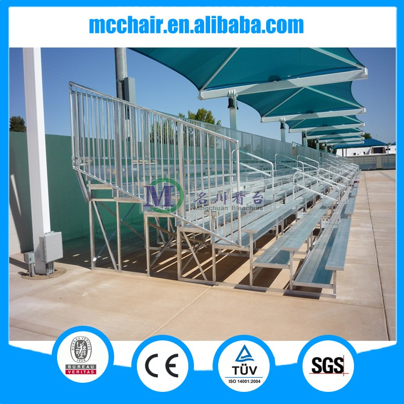 2016 MC-7F stadium stands and aluminum bleachers with variours plastic seats