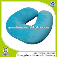 bule neck pillow filled with polystyrene beads ,any color you can printing neck pillow filled with polystyrene beads