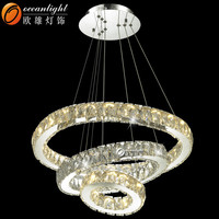 Three Rings Crystal LED Chandelier For