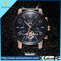 China factory wholesale automatic mechanical fashion antique men's stainless steel watches