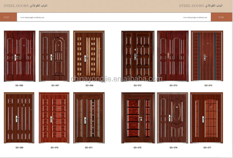 Sample picture door steel door iron main entrance doors Main entrance door grill