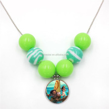 Moana Cosplay Movie For Kids Party Decorative Neck Beaded Anime Necklace