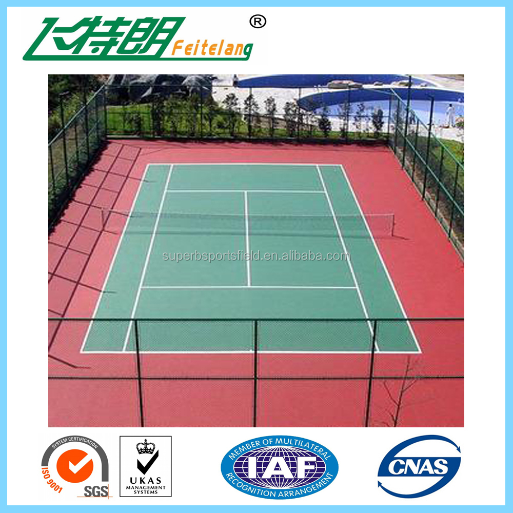 Acrylic paint for badminton court tennis playing surfaces for Sport court paint