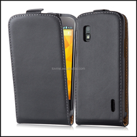 Magnetic Genuine Real Flip Leather Case Wallet Cover for LG Nexus 4