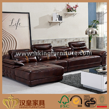 2017 New Model Modern European Style L Shape Coner Full Grain Italy Leather Sofa, Used Vintage Leather Sofa