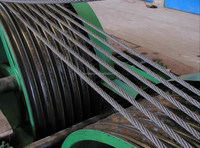 galvanized high carbon steel wire rope with one colour strand 11MM