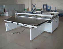 Large sublimation pneumatic flat bed silk screen printing machine with sliding table for glass ,pvc sheet
