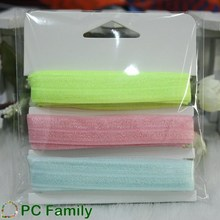 Multi colors small paking fold over elastic