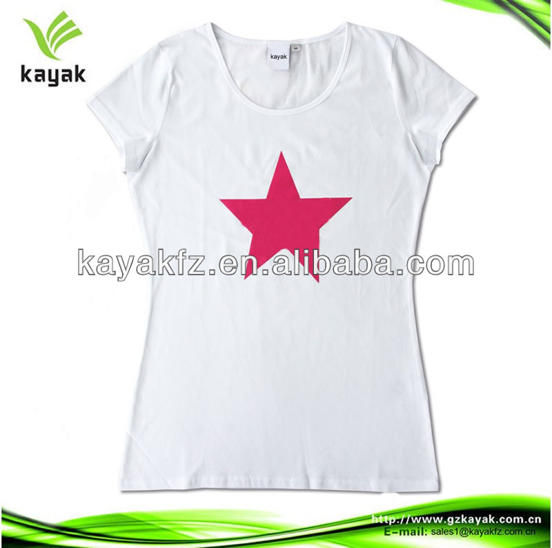 2014 new design factory wholesale promotional t shirt white short sleeve advertising election tee