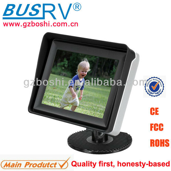 3.5 inch LCD Rear View and Back Up Monitor with 2 Video Inputs