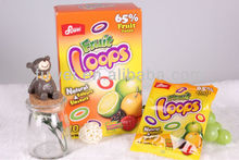 Fruit Loops gummy candy (65% fruit juice)