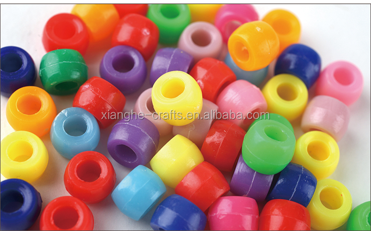 wholesale colorful craft plastic beads for jewellery making