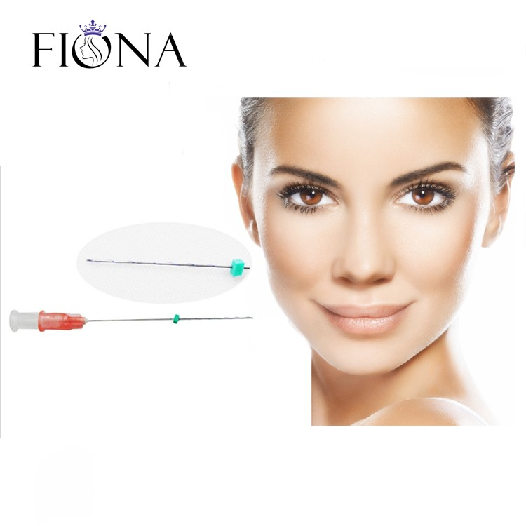 Face Lifting absorable suture for beauty mono thread with needle hilo tensor PDO/PCL/PLLA