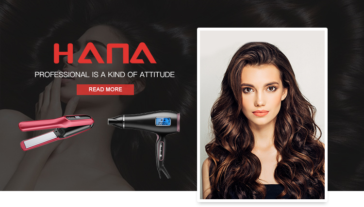 HANA new design LED display rotation line Korea nano silver tourmaline technology curling iron with retractable bristles