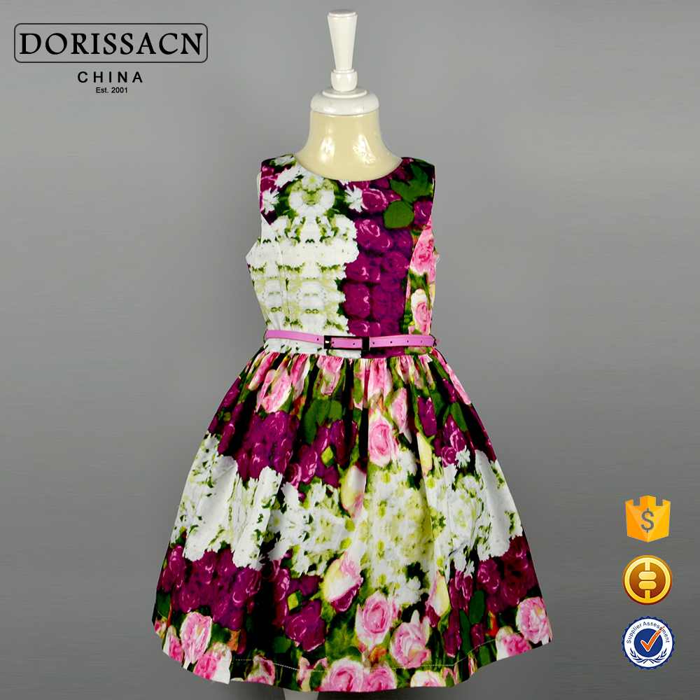 Rose Pattern Dress Simple Decoration