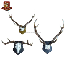 Resin head of the animal skull pendant deer antlers mural European home furnishing living room decoration