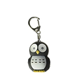 custom black owl flashlight keychain