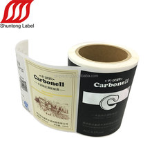 Good sell custom paper wine bottle label sticker printing
