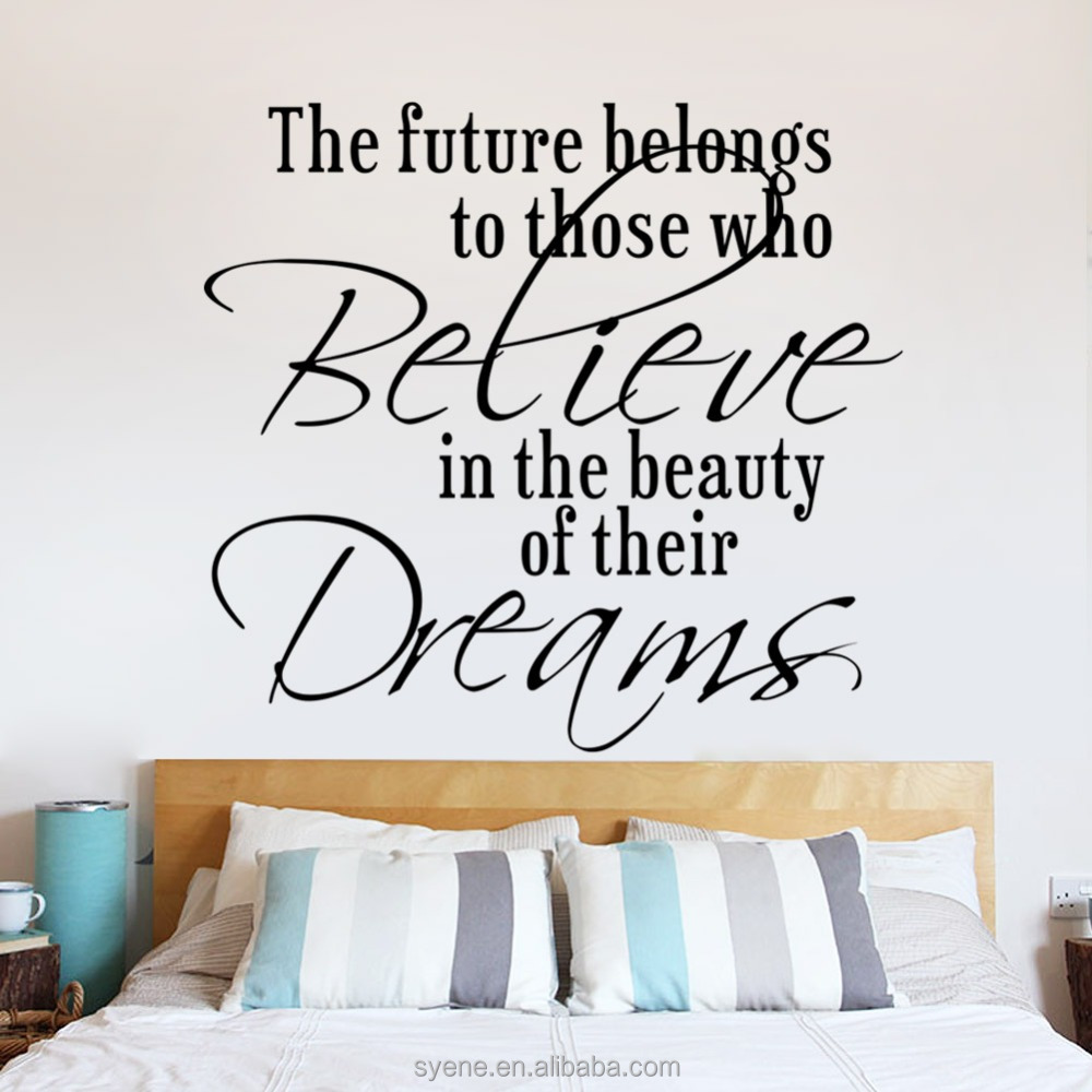 decorative home adhesive shelf paper art vinyl quotes the future belongs believe dream letters art wall mural decorative home