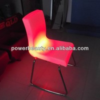 glowing metal swivel industrial stool with rgb led lights