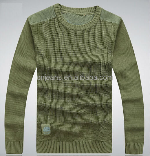 GZY wholesale army green colors long sleeve mens sweaters picture