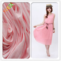 hot sale 100% polyester knitted wholesale pure chiffon fabric for dress