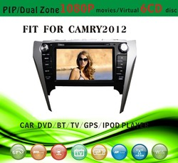 car dvd gps providers fit for Toyota camry 2012 with radio bluetooth gps tv pip dual zone