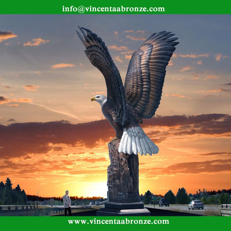 Gifts cast bronze eagle sculpture