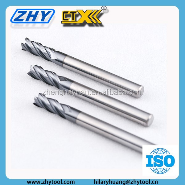 Export 4 flute solid carbide end mill for auto spare parts car distributor indonesia
