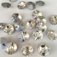 Sewing glass beads SATELLITE shape with super shiny glass beads 16mm white clear