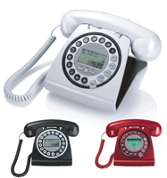 Caller ID corded old fashioned telephone for home decoration
