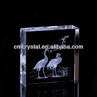 2016 smart crystal laser etched paperweight