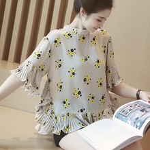 d83006f 2016 loose short sleeve top womens korea printing clothes blouses
