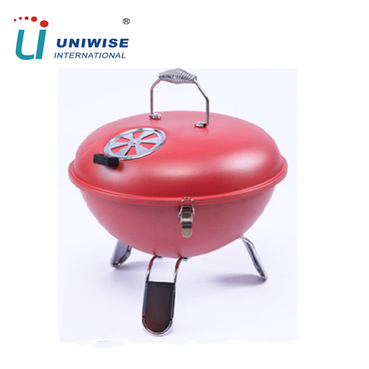 Colorful Mini Tabletop Portable Charcoal BBQ Kettle Grill in Weber Style