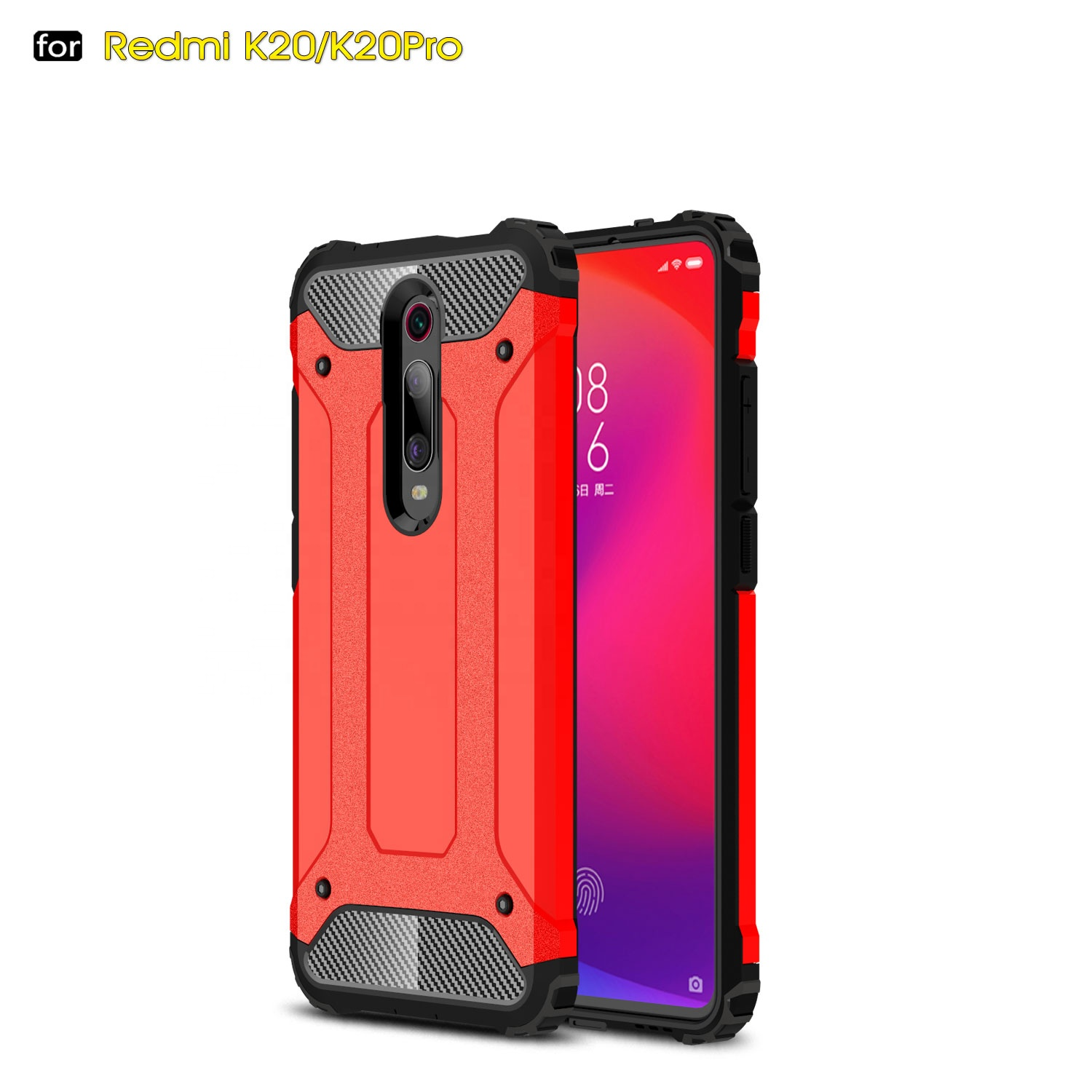 Armour case for Xiaomi Redmi K20pro/Mi 9T soft TPU+PC cell phone cases shockproof back cover <strong>2</strong> in1 for Redmi Note7pro wholesales