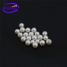Wholesale Hot sale AA 4-4.5mm white loose round no hole half hole natural freshwater pearl