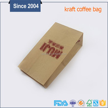 China factory custom printing coffee bag brown logo's coffee bags with clear window