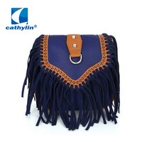Cathylin Free Shipping New Hot Sale Bohemia Women Handbag Female Small Bag Factory Wholesale Vintage Women's Fringe Tassel Bag