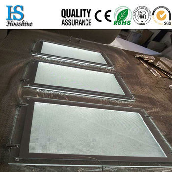 Double side crystal light box/LED acrylic display box hanging/Customized led crystal light box