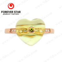 2015 Hot Sale Lemon Quartz 9 ct Latest Gold Rings Design for Women with Price