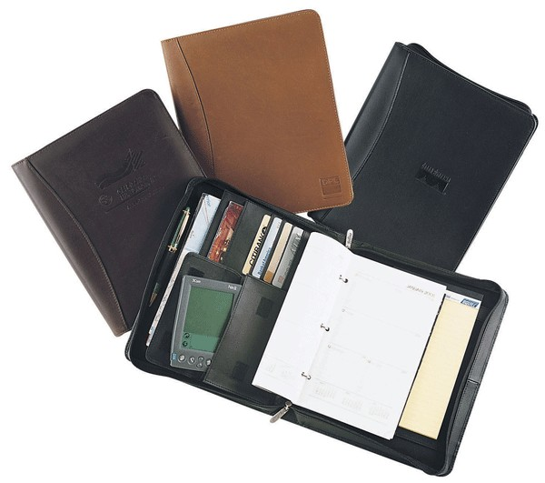 New Style custom leather padfolio with zipper