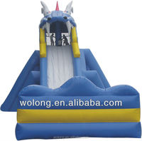 Wave commercial inflatable water slide sale for new season